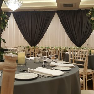 luxurty wedding backdrop paris grey