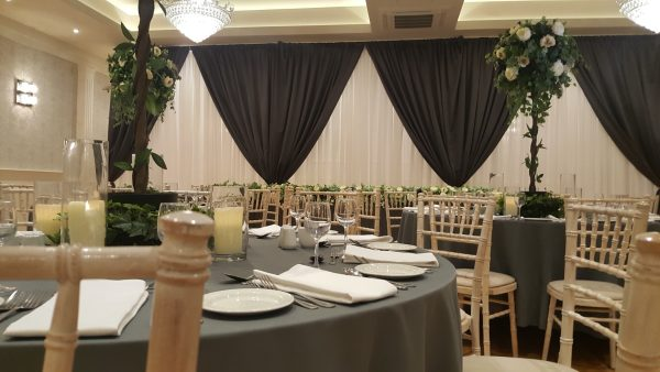 luxurty wedding backdrop paris grey