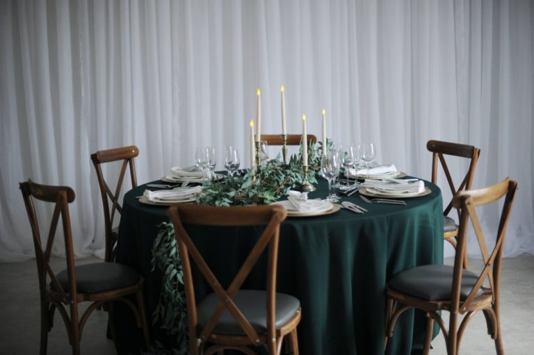 brass candlestick table styling centres wedding fermanagh n.ireland