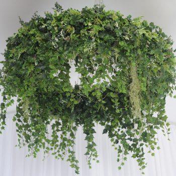 wedding ceremony northern ireland enniskillen fermanagh inspiration hire ni decor n.ireland hanging greenery hoops