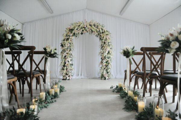 blush flower wedding archblush flower arch fermanagh n.ireland