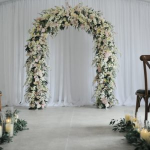 blush flower wedding arch fermanagh n.ireland