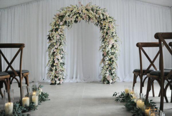 blush flower wedding arch fermanagh n.ireland