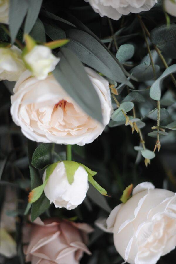 blush half moon wedding arch n.ireland