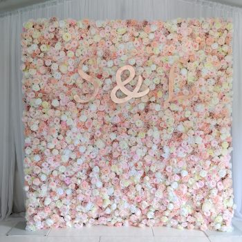 blush flowerwal, flowerwalls ni, NI flowerwalls, wedding inspiration, Northern Ireland, Ireland, Fermanagh weddings