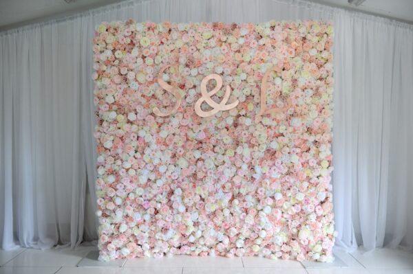 blush flowerwal, flowerwalls ni, NI flowerwalls, wedding inspiration, Northern Ireland, Ireland, Fermanagh weddings