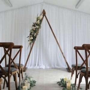 triangle floral arbor arch wedding northern ireland