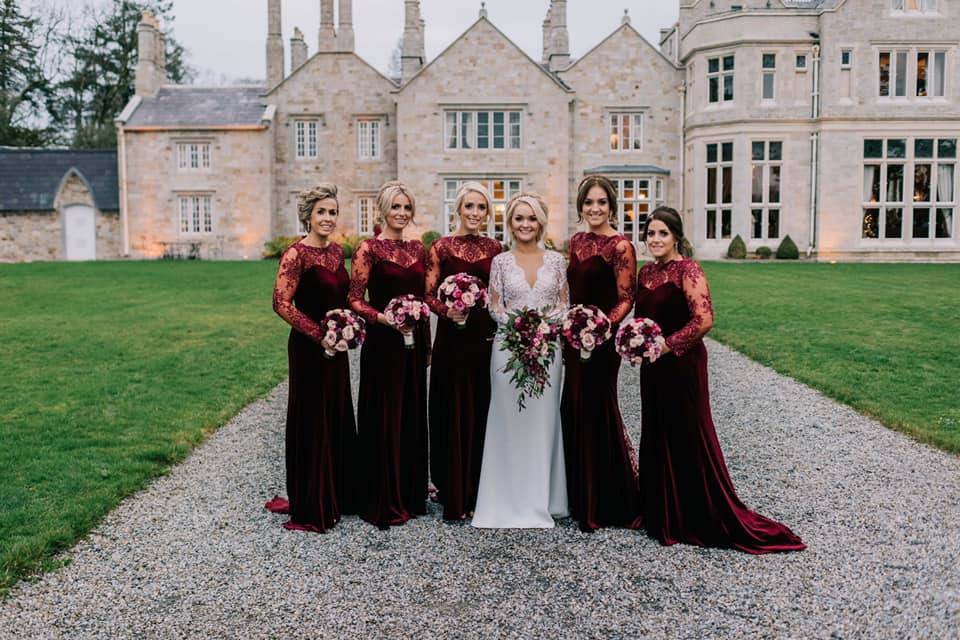 wedding bouquets pink red christmas foliage weddings Fermanagh