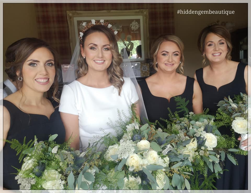 wedding foliage bouquet ivory roses gyp Co.Fermanagh Northern Ireland