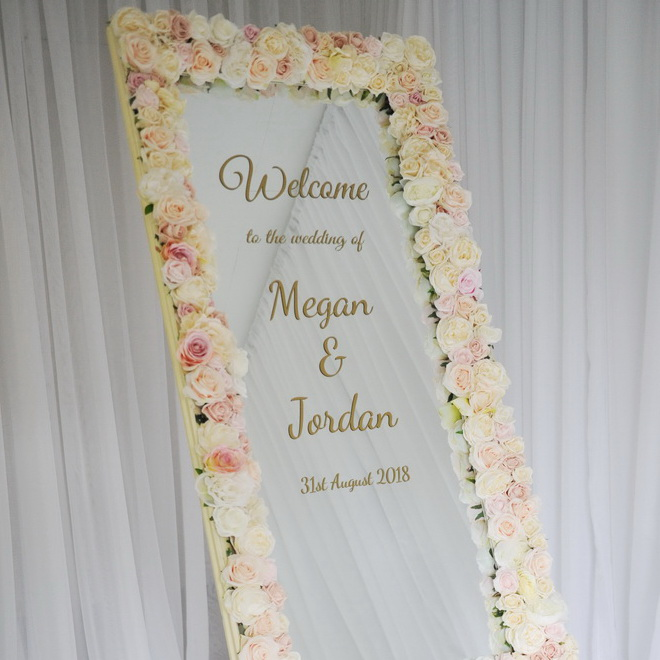 wedding ceremony northern ireland enniskillen fermanagh inspiration hire ni decor n.ireland personalised sign
