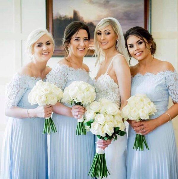 wedding ceremony northern ireland enniskillen fermanagh inspiration hire ni decor n.ireland cream bridal bouquet