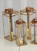 Copper floor lantern ceremony decor ideas, wedding ceremony decor, Northern Ireland, Fermanagh Weddings