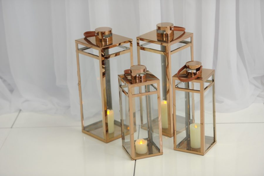 Copper floor lantern ceremony decor ideas, wedding ceremony decor, Northern Ireland, Fermanagh Weddings