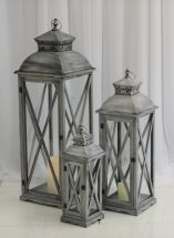 Grey floor lantern ceremony ideas, aisle decor ideas, Northern Ireland, Fermanagh Weddings