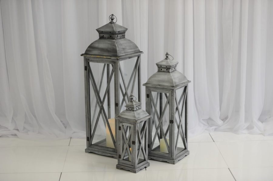 Grey floor lantern ceremony ideas, aisle decor ideas, Northern Ireland, Fermanagh Weddings
