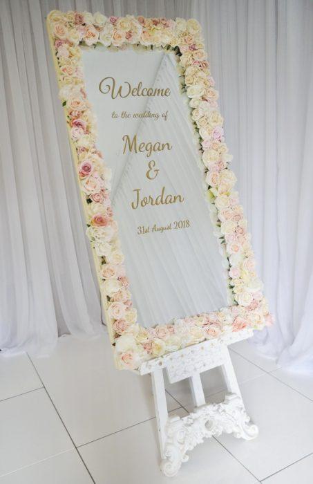 Blush floral decor wedding sign ideas, wedding decor, Northern Ireland