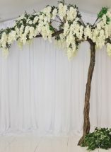 Wisteria floral canopy tree wedding ideas, ceremoy decor ideas, blossom decor, Northern Ireland Weddings, Fermanagh Weddings