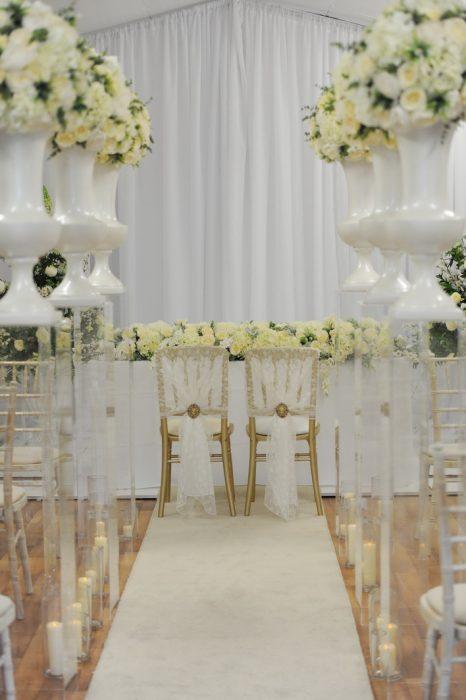 McGarry Flowers Wedding Door and Aisle Decor