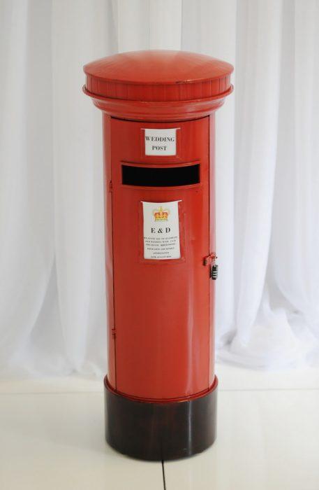red psot box, wedding post box, red wedding post box, northern ireland, wedding stylists NI