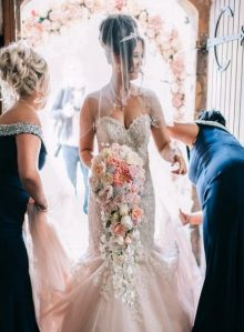wedding ceremony northern ireland enniskillen fermanagh inspiration hire ni decor n.ireland silk blush bouquet