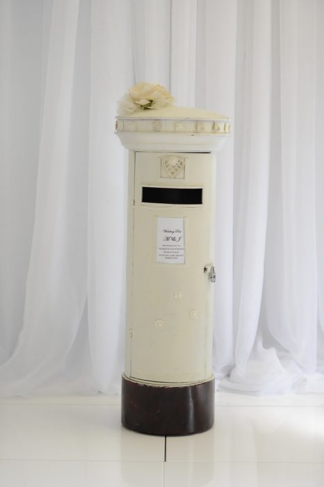 wedding ceremony northern ireland enniskillen fermanagh inspiration hire ni decor n.ireland card postbox