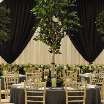 wedding ceremony northern ireland enniskillen fermanagh inspiration hire ni decor n.ireland table centre tree