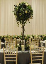 wedding ceremony northern ireland enniskillen fermanagh inspiration hire ni decor n.ireland foilage table centre