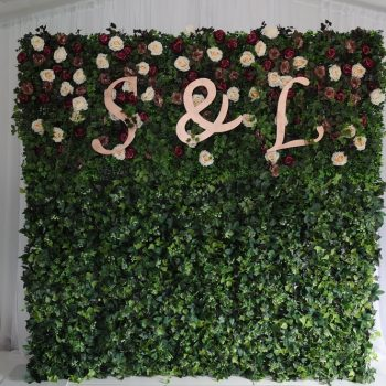 wedding ceremony northern ireland enniskillen fermanagh inspiration hire ni decor n.ireland flower wall