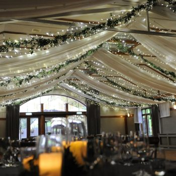 Luxury drapes fairylights and garlands