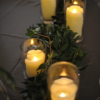 candle light glas ware table centre wedding