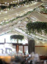 hanging roof foliage decor fermamangh wedding venue decor