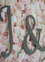 blush flower wall hire n.ireland wedding