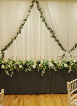 wild floral top table display