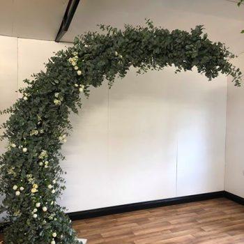 botanical half moon arch