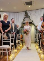 candle light aisle wedding ceremony hire northern ireland