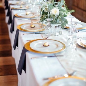 Gold charger plate wedding hire n.ireland
