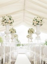 cream floral ball aisle decor lough erne