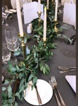brass gold trailing candle stick table centre wedding