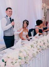 blush floral top table silk hired display wedding n.ireland