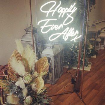 neon wedding sign hire northern ireland