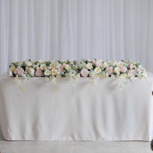 blush floral ceremony display