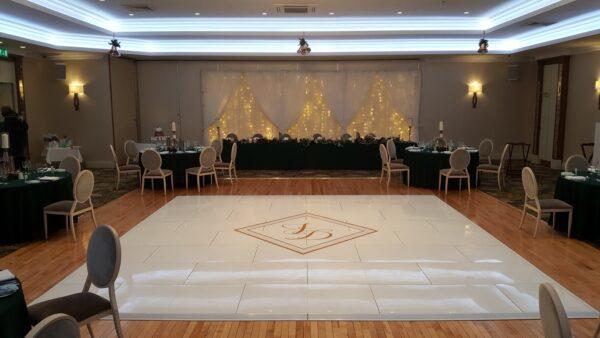 High gloss white dance floor wedding n.ireland