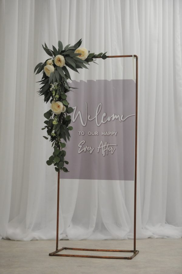 paris grey sign with copper frame