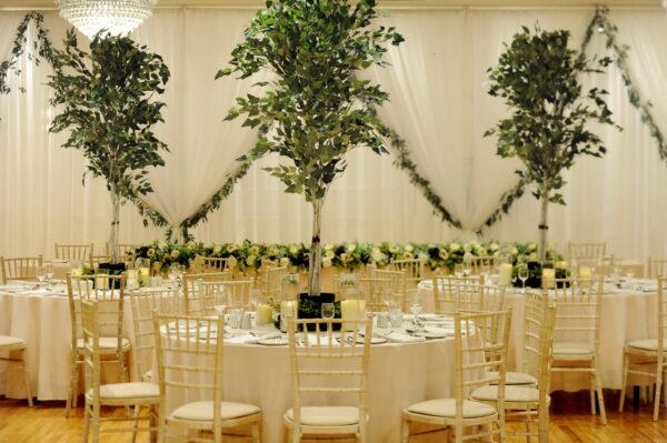 Luxury foliage lined backdrop