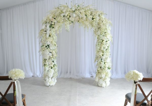 blossom floral arch