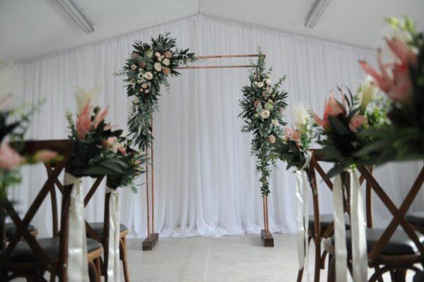Botanical copper arch