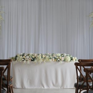 Cream floral display with pearl plinth8