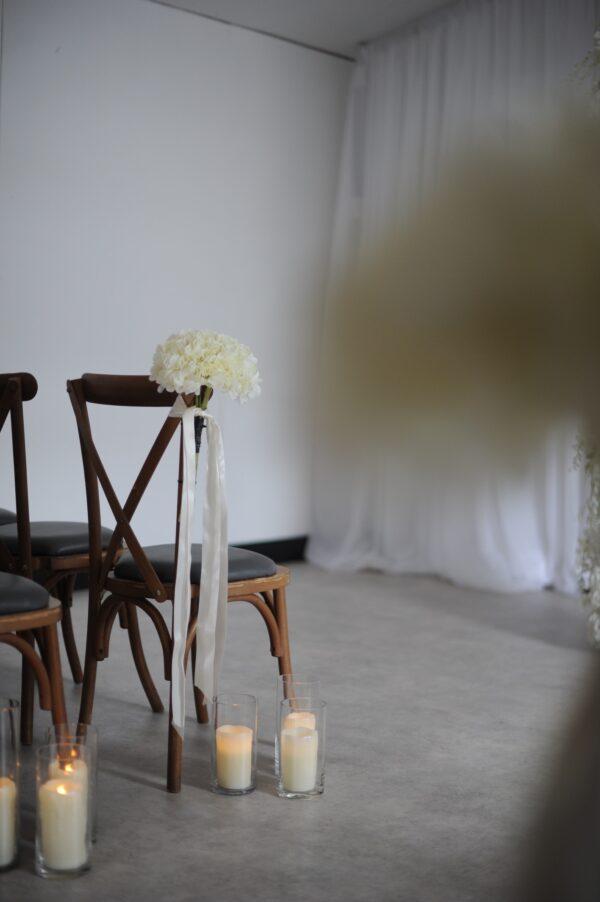 white hydrangea pewends
