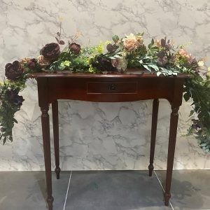 burgundy botanical ceremony display