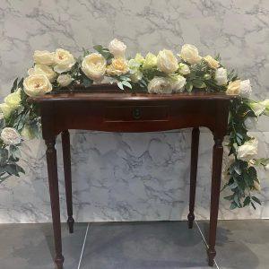 cream floral ceremony garland